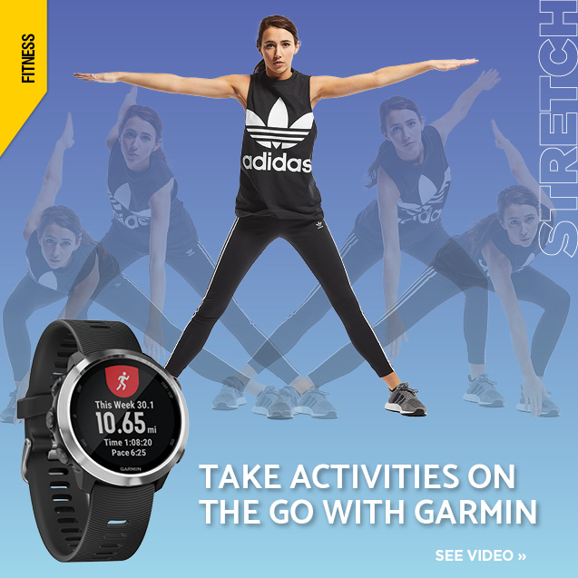 Watch a video about Garmin fitness trackers