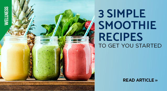 3 simple smoothie recipes
