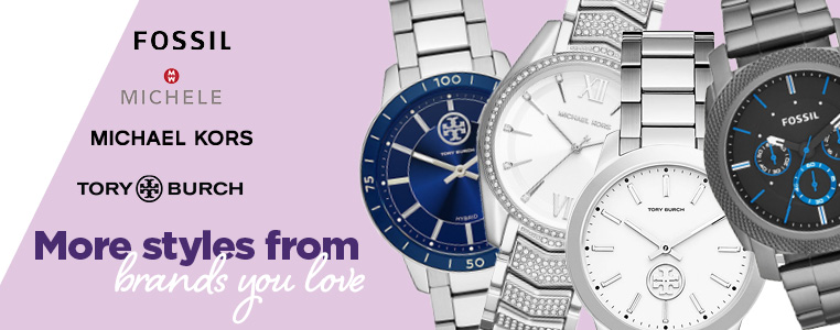 More styles from brands you love: Michael Kors, Fossil, Tory Burch, Michele