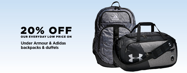 20% Off Under Armour & Adidas Backpacks & Duffels