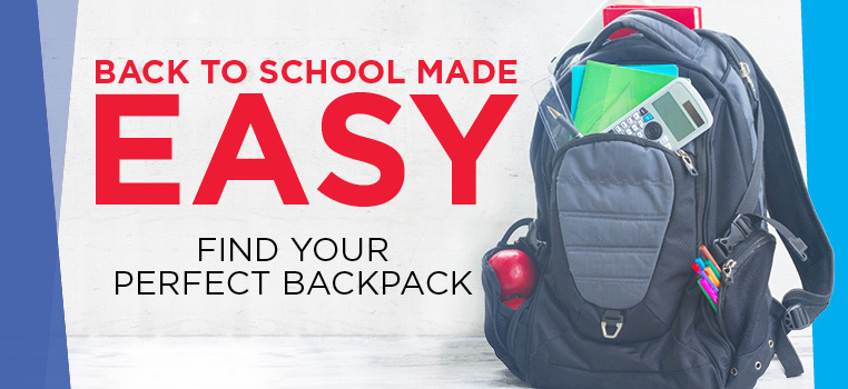 Find your perfect backpack for back to school