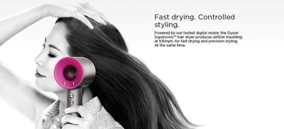 Fast drying and controlled styling