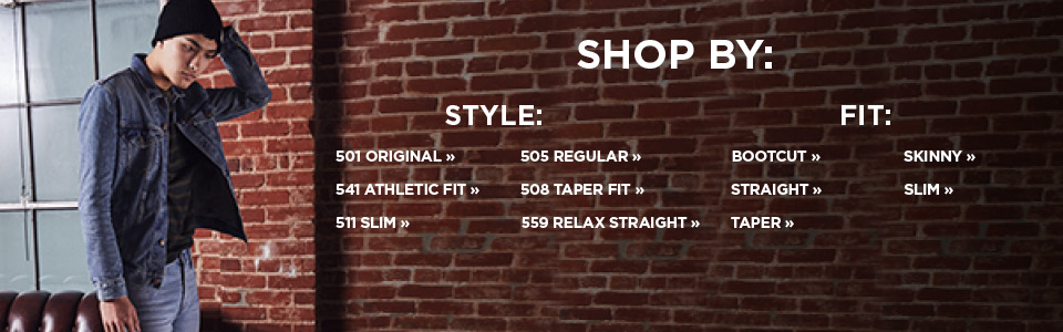 Shop Men's Levi's by style or fit