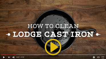 Video on how to clean Lodge cast iron