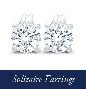 Shop Navy Star solitaire earrings