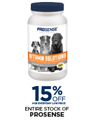 15% Off Prosense Dog Viatamins
