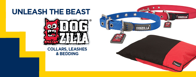 Dogzilla Collars and Leashes and Bedding