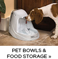 Pet Bowls and Food Storage