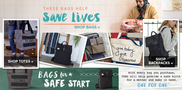 Toms bags help save lives