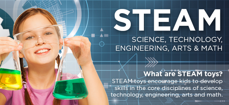 Science, Technology, Engineering, Arts, and Math. STEAM toys!