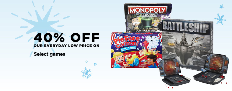 40% Off Select Games