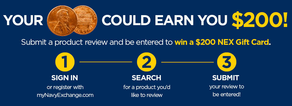 Your 2 cents could earn you $200. Submit a product review and be instantly entered in this sweepstakes.