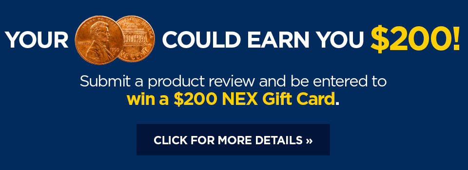 Your 2 cents could earn you $200. Submit a product review and be instantly entered