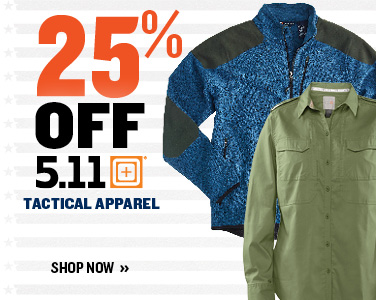 25% off Men's & Women's 5.11 Tactical Apparel