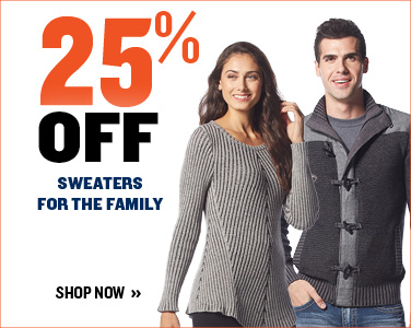 25% off Sweaters for the Family