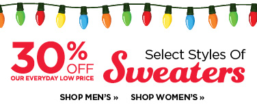 30% Off Sweaters