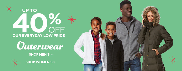 Up to 40% off outerwear