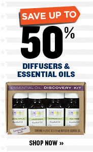 UP TO 50% OFF DIFFUSERS & ESSENTIAL OILS