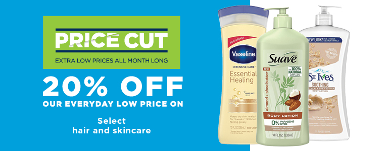 20% Off Select Hair and Skin Care
