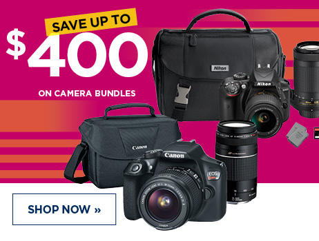 Save up to $400 on Camera Bundles