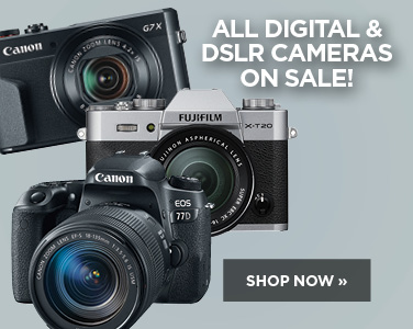 All Digital and DSLR cameras on sale