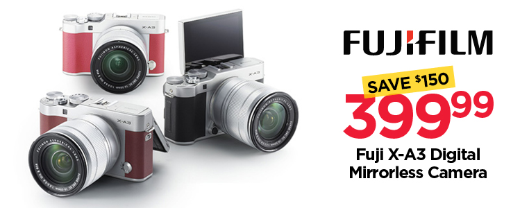Save $150 on Fuji X-A3 Mirrorless Camera