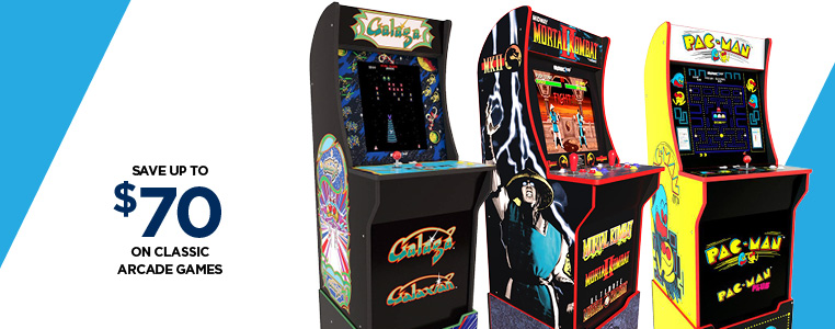 Save Up to $70 on Classic Arcade Games