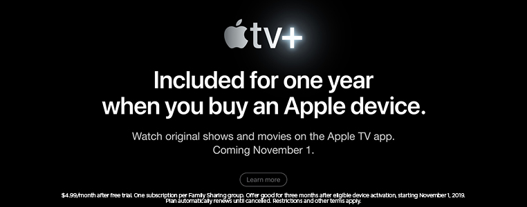 Apple TV+ free for one year