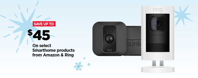 Save up to $45 on select Smarthome products from Amazon & ring