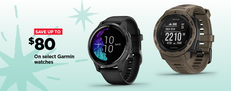 Save up to $80 on select Garmin Watches