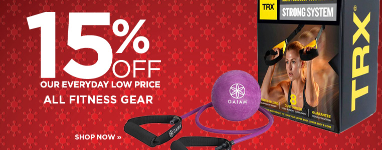 15% OFF ALL FITNESS GEAR