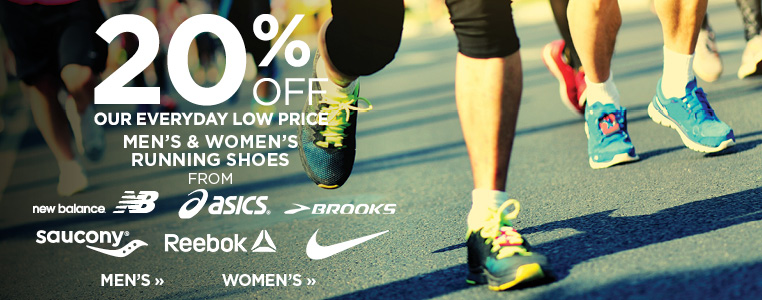 20% OFF OF MEN'S & LADIES' ATHLETIC SHOES