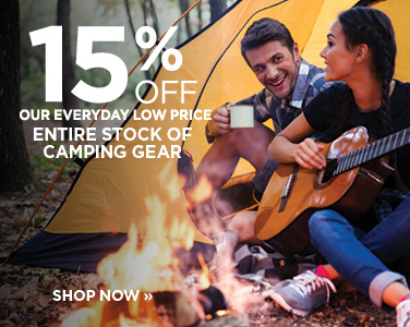 15% OFF All Camping Gear