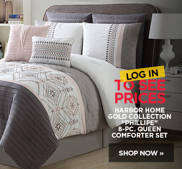 Log in to see pricing on Harbor Home Gold Collection Phillipe 8 piece Queen comforter set