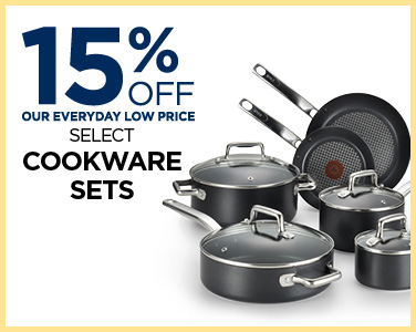 15% off select cookware sets