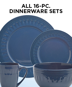 15% Off All 16-PC. Dinnerware Sets