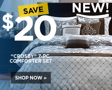 Save $20 on Crosby 7 piece comforter set