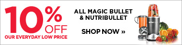 10% off Magic Bullet and Nutribullet