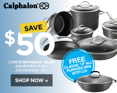 Save $50 on Calphalon Hard Anodized 11 piece cookware set