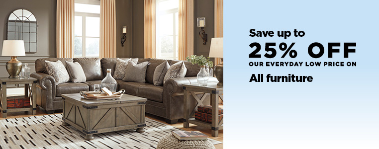 UP TO 25% OFF ALL FURNITURE AND MATTRESSES