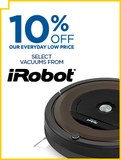 Save 10% on Select iRobot Vacuums
