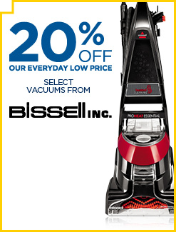 Save Up To 20% Off Select Bissell Vacuums