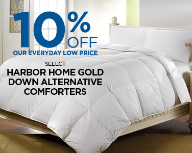 Save Up To 20% on Select Harbor Gold Down Alternative Comforters