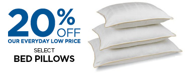 Save 20% On Select Bed Pillows