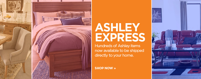Hundreds of Ashley items now available to be shipped directly to your home