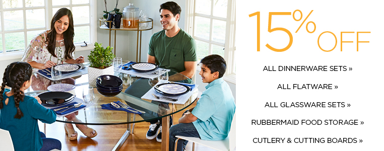 15% off select home categories