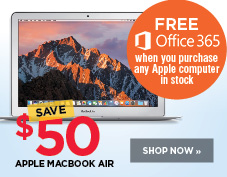 Save $50 on Macbook Air. Plus free Microsoft Office 365