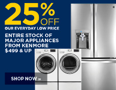 25% off Kenmore major appliances