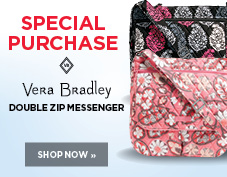 Vera Bradley Double Zip Messenger Special Purchase