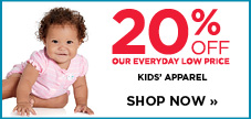 20% off kids' apparel
